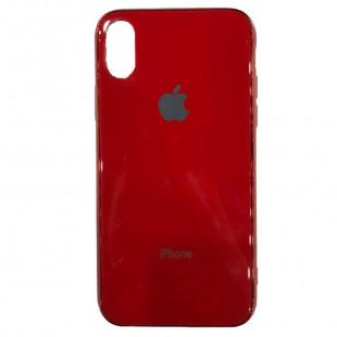 Накладка Glass Case Apple IPhone XS Max (Красный)