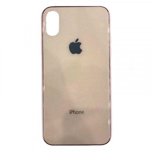 Накладка Glass Case Apple IPhone XS Max (Персик)