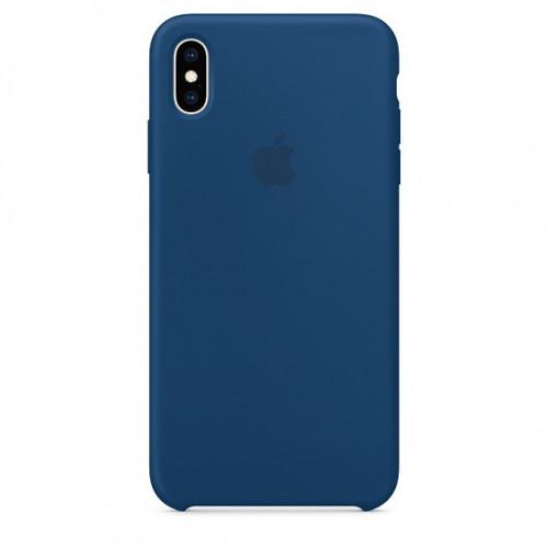 Силиконовый чехол Apple Silicone Case Blue Horizon (1:1) для iPhone XS Max
