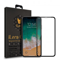 Защитное стекло 2,5D iPhone XR/11 (Black) Full Cover Eclat iLera
