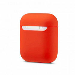 Чехол Silicone case Ultra Thin AirPods Nectarine