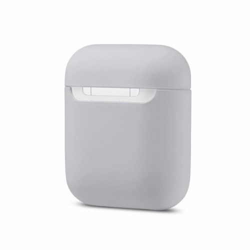 Чехол Silicone case Ultra Thin AirPods Stone White