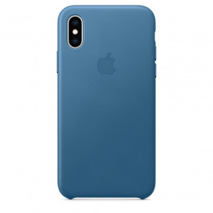 Кожаный чехол Apple Leather Case Cape Cod Blue (1:1) для iPhone XS Max