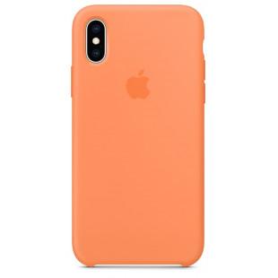Силиконовый чехол Apple Silicone Case Papaya (1:1) для iPhone XS