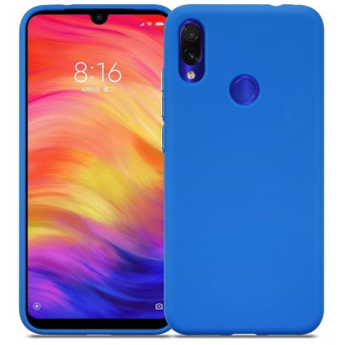Силикон DEF Rubberized TPU Blue для Xiaomi Redmi Note 7