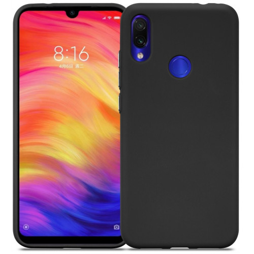 Силикон DEF Rubberized TPU Black для Xiaomi Redmi 7