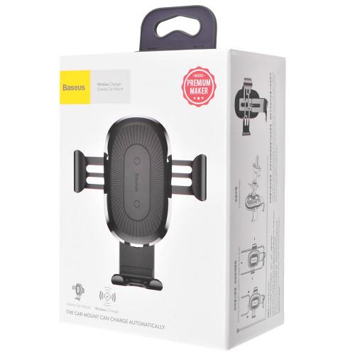 Автодержатель Baseus Wireless Charger Gravity Car Mount (Air Outlet Version) 1.67A 10W Black (WXYL-01)