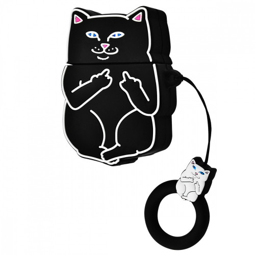 Чехол AirPods Cat Fakk (Black)