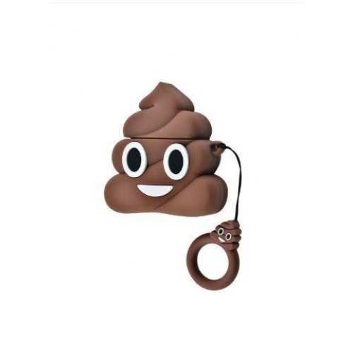 Чехол AirPods Turd Smile (Brown)