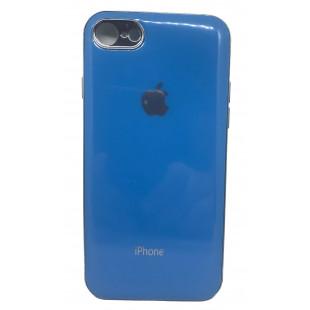 Силиконовая накладка Apple Iphone 7/8 Glass Blue