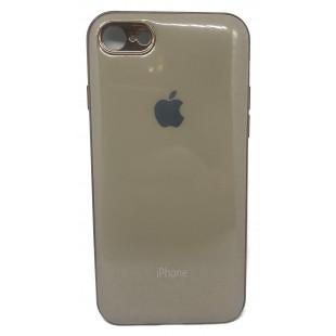 Силиконовая накладка Apple Iphone 7/8 Glass Gold