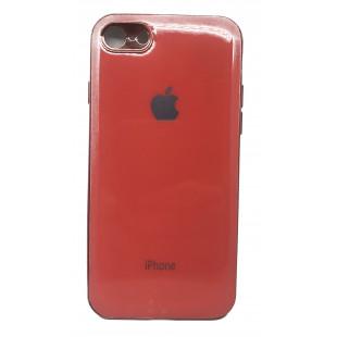 Силиконовая накладка Apple Iphone 7/8 Glass Orange