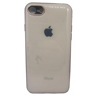 Силиконовая накладка Apple Iphone 7/8 Glass Pink