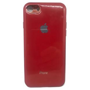 Силиконовая накладка Apple Iphone 7/8 Glass Red
