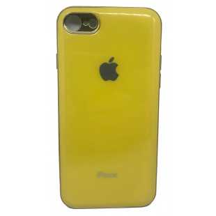 Силиконовая накладка Apple Iphone 7/8 Glass Yellow