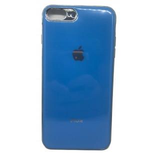 Силиконовая накладка Apple iPhone 7/8 Plus Glass Blue
