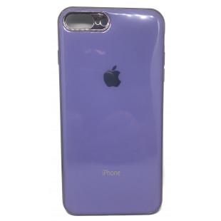 Силиконовая накладка Apple iPhone 7/8 Plus Glass Purple