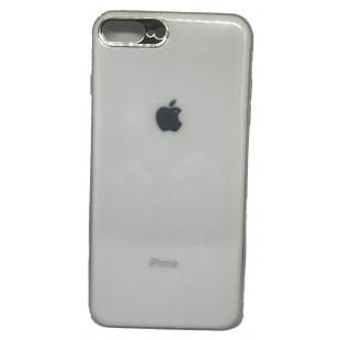 Силиконовая накладка Apple iPhone 7/8 Plus Glass White
