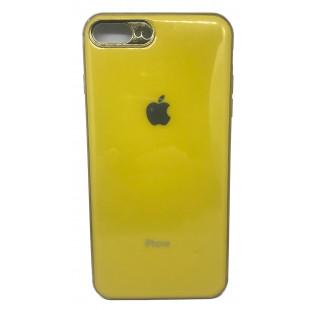 Силиконовая накладка Apple iPhone 7/8 Plus Glass Yellow