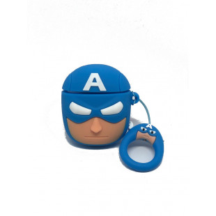 Чехол Marvel & DC Case for AirPods (Captain America)
