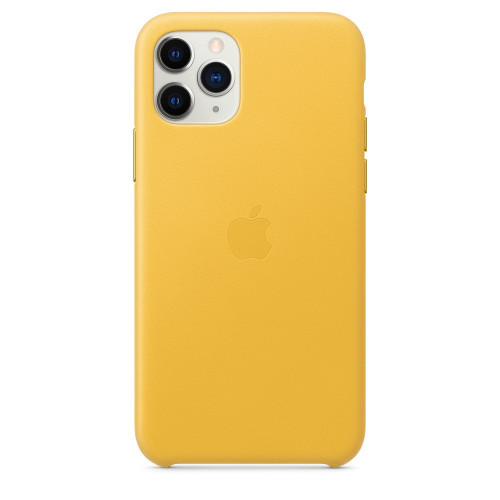 Чехол Apple iPhone 11 Pro Leather Case - Meyer Lemon (MWYA2)