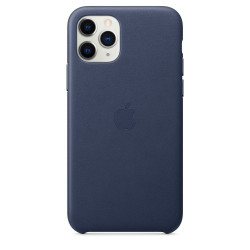 Чехол Apple iPhone 11 Pro Leather Case - Midnight Blue (MWYG2)