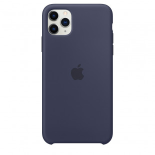 Чехол Apple iPhone 11 Pro Max Silicone Case - Midnight Blue (MWYW2)