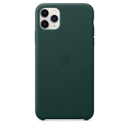 Чехол Apple iPhone 11 Pro Max Leather Case - Forest Green (MX0C2)