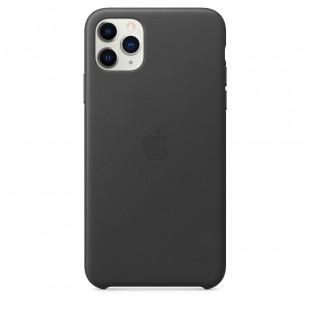 Чехол Apple iPhone 11 Pro Max Leather Case - Black (MX0E2)