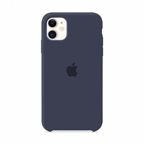 Чехол Apple Silicone Case Midnight Blue (1:1) для iPhone 11