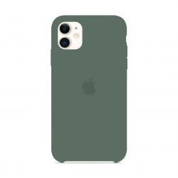 Чехол Apple Silicone Case Pine Green (1:1) для iPhone 11