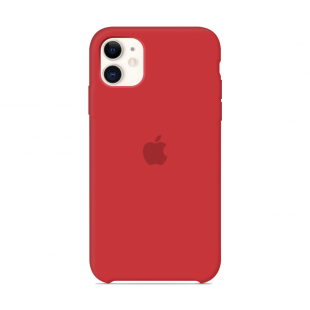 Чехол Apple Silicone Case Red (1:1) для iPhone 11
