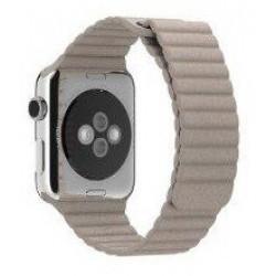 Ремешок Apple Watch 38/40mm Leather Loop (Stone)