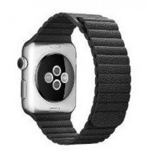 Ремешок Apple Watch 38/40mm Leather Loop (Black)