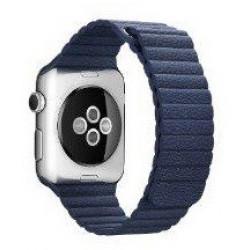 Ремешок Apple Watch 38/40mm Leather Loop (Blue)