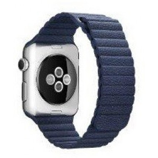Ремешок Apple Watch 38/40mm Leather Loop (Blue)