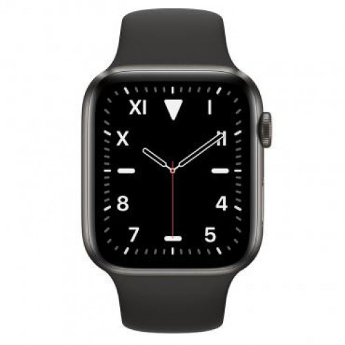 Apple Watch Series 5 GPS 44mm Space Black Titanium Space Black Sport Band (MWR52)