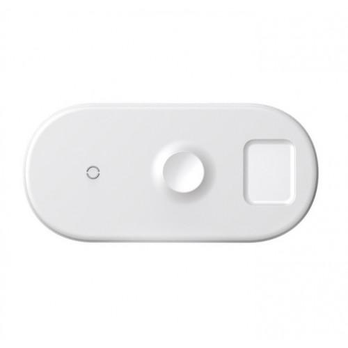 Беспроводная зарядка Baseus Smart 3 in 1 Wireless Charger White 18W (WX3IN1-02)