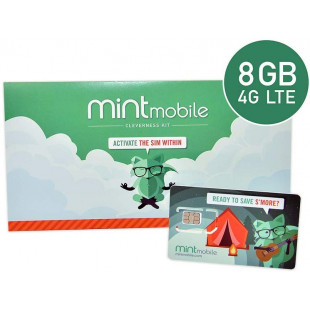 Стартовый пакет Mint Mobile 4G 8GB (USA SIM-card)