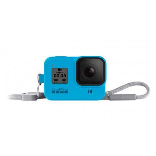 Чехол GoPro HERO8 Sleeve&Lanyard Blue (AJSST-003)