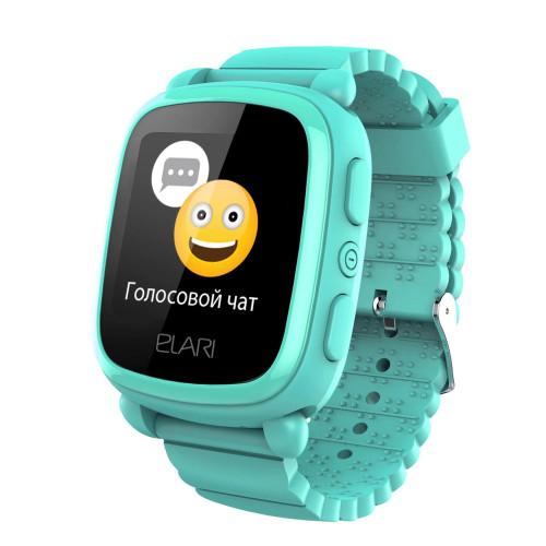 Детские часы ELARI KidPhone 2 Green с GPS-трекером (KP-2G)