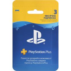 Карта подписки PlayStation Plus на 3 месяца (Украина)