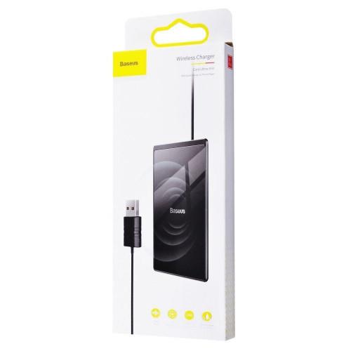 Беспроводное зарядное устройство Baseus Card Ultra-Thin 15W с кабелем USB 1м Black (WX01B-01)