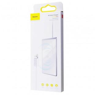Беспроводное зарядное устройство Baseus Card Ultra-Thin 15W с кабелем USB 1м Silver (WX01B-S2)