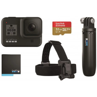 GoPro HERO8 Black Bundle (CHDRB-801) + Карта памяти 32Gb