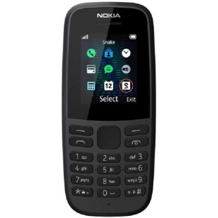 Nokia 105 2019 Single Sim Black