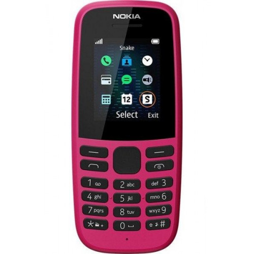 Nokia 105 2019 Single Sim Pink