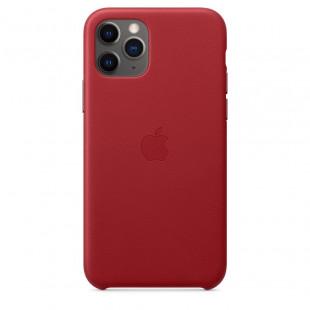 Кожаный чехол Apple Leather Case Red (1:1) для iPhone 11 Pro