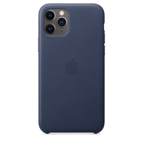 Кожаный чехол Apple Leather Case Midnight Blue (1:1) для iPhone 11 Pro