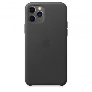 Кожаный чехол Apple Leather Case Black (1:1) для iPhone 11 Pro